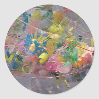 Recycled Flowers Classic Round Sticker