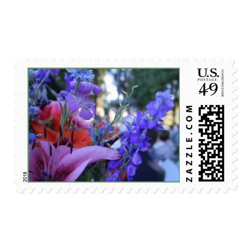 Recycled Flowers Postage Stamp