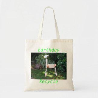 Recycled Giraffe Earth Day Bag
