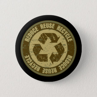 Recycled Grunge Pinback Button