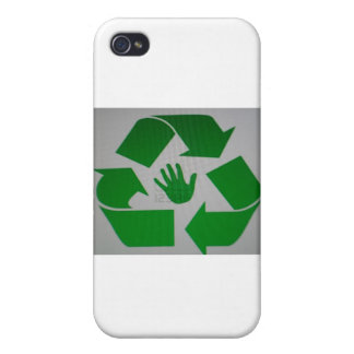 Recycled Handprint iPhone 4 Case
