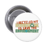 Recycled Homework Pinback Button