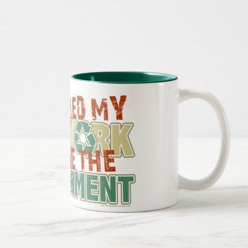 Recycled Homework Two-Tone Coffee Mug