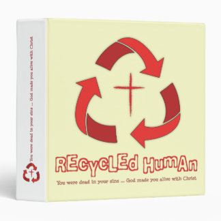 Recycled Human Christian school/work binder
