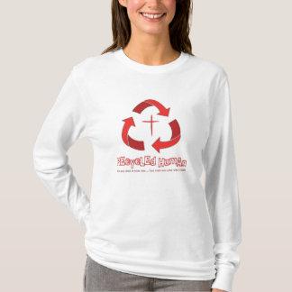 Recycled Human women's Christian hoodie (white)