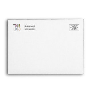 Recycled Invitation Envelope Logo Address Indicia