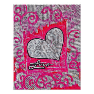 Recycled Love 22 x 28 poster