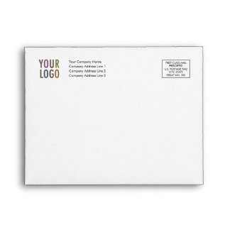 Recycled Note Card Envelope Logo Address Indicia