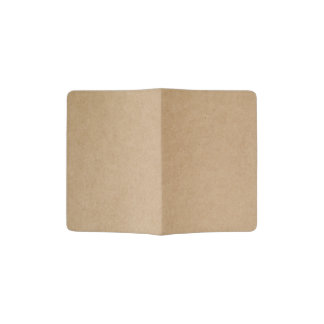 Recycled paper texture passport holder