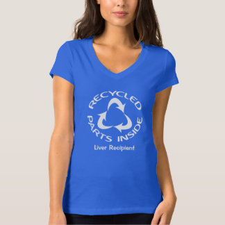 Recycled Parts Inside - with customized text T-Shirt