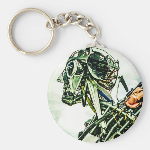 Recycled Robot Keychains