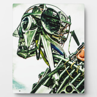 Recycled Robot Plaque