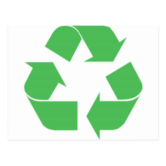 Recycled symbol postcard