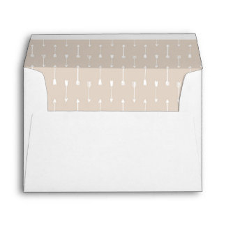 RECYCLED Taupe Arrows A7 Card Envelope