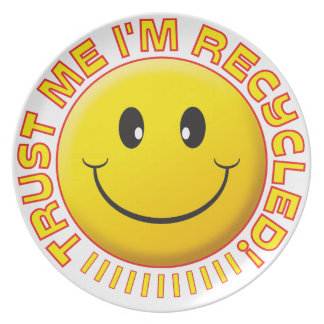 Recycled Trust Me Smile Plates