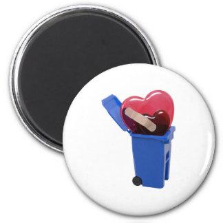 RecycledBrokenHearts062709 2 Inch Round Magnet