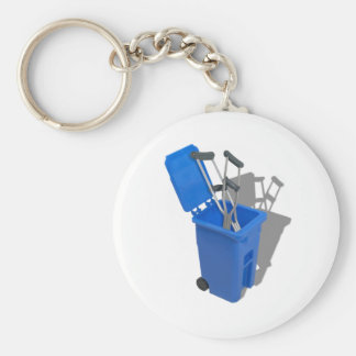 RecycledCrutches082010 Basic Round Button Keychain