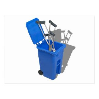 RecycledCrutches082010 Postcard