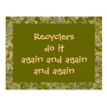 Recyclers do it again postcards