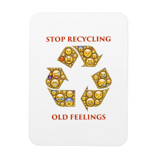 recycling-401397 ADVICE MOTIVATIONAL COMMENTS EXPR Rectangular Photo Magnet