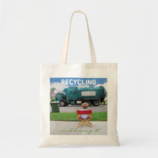 Recycling...and loving it! tote budget tote bag