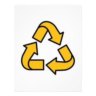 Recycling Arrows Letterhead