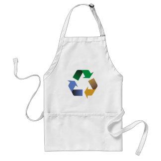 recycling arrows symbol adult apron