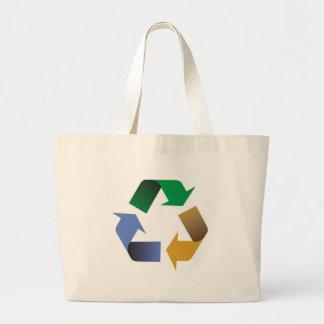 recycling arrows symbol canvas bags