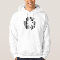 RECYCLING BAR CODE Recycle Barcode Pattern Design Hoodie