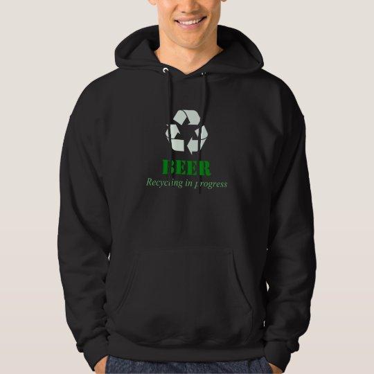 Recycling beer in process hoodie