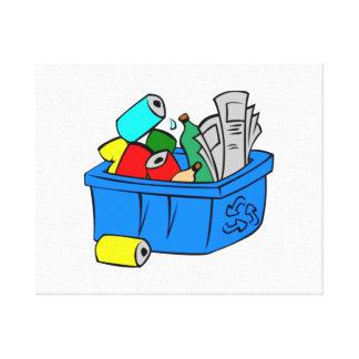 Recycling Bin Canvas Print