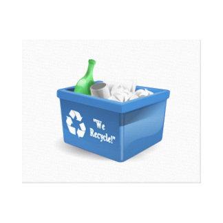 Recycling Bin Gallery Wrap Canvas