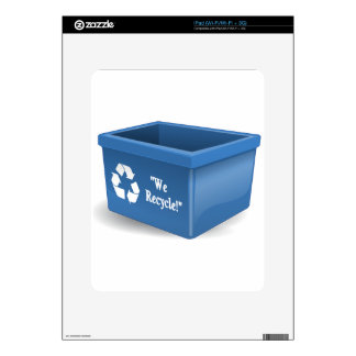 Recycling Bin Decal For The iPad