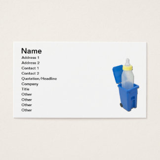 Recycling Bin with Baby Bottle Business Card