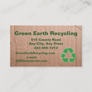Recycling cardboard business cards templates zazzle recycling business cardboard look business card colourmoves
