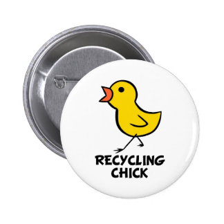 Recycling Chick Button
