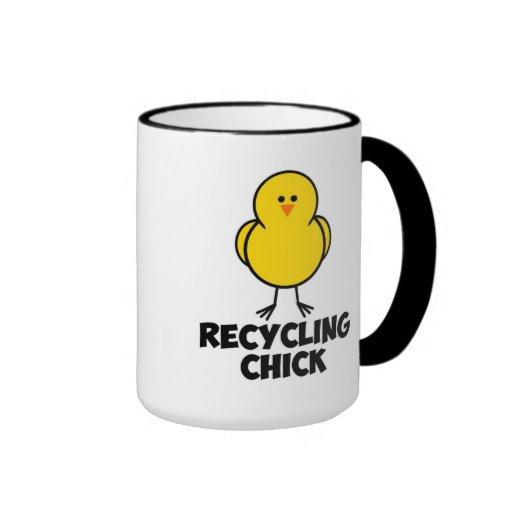 Recycling Chick Coffee Mug