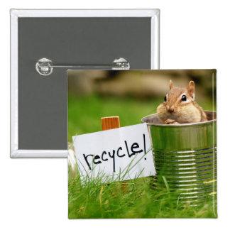 Recycling Chipmunk Button