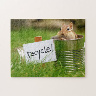 Recycling Chipmunk Jigsaw Puzzle