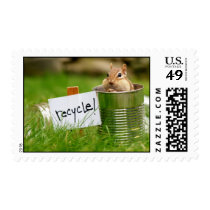 Recycling Chipmunk Postage