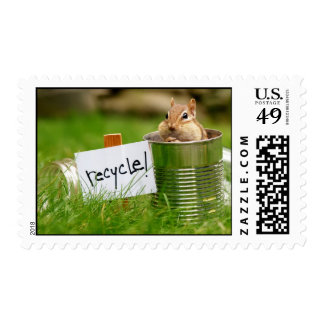 Recycling Chipmunk Postage