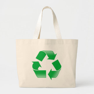 Recycling CLASSIC RECYCLE SYMBOL Jumbo Tote Bag