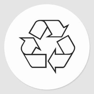 Recycling Classic Round Sticker