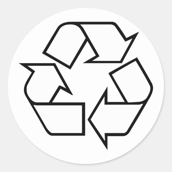 Recycling Classic Round Sticker