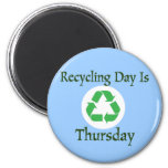 Recycling Day Thursday Reminder Magnet