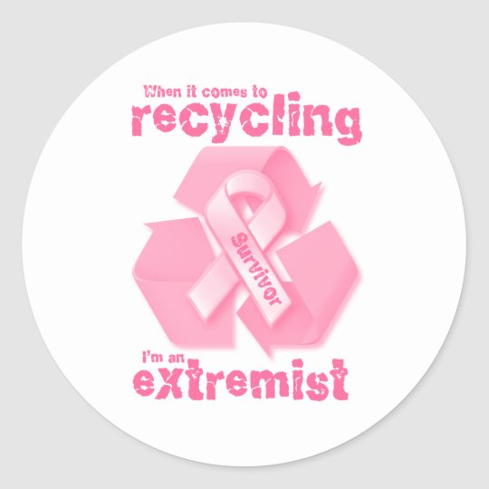 Recycling Extremest Classic Round Sticker