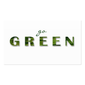 Recycling Green Grass Business Card