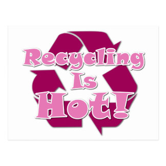 Recycling is Hot Postcard