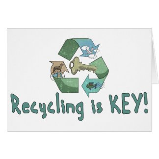 Recycling is Key by Mudge Studios Greeting Card