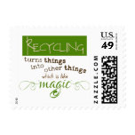 Recycling is like Magic Postage Stamp